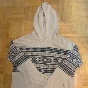 Tops - Beige long sleeve with hood